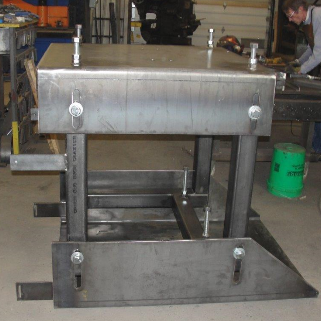 custom metal bench fabrication